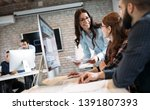 young architects working on... | Shutterstock . vector #1391807393