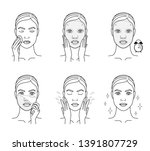 cosmetic mask for the face.... | Shutterstock .eps vector #1391807729