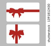 gift card with ribbon set... | Shutterstock . vector #1391812430
