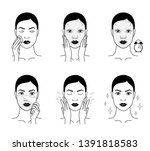 cosmetic mask for the face.... | Shutterstock .eps vector #1391818583