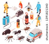 pest control disinfection... | Shutterstock .eps vector #1391821340