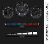 car dashboard control panel.... | Shutterstock . vector #1391827253