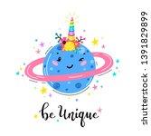 magic unicorn little cute... | Shutterstock .eps vector #1391829899