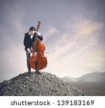 Musician Playing Bass At The...