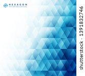 abstract blue geometric hexagon ...   Shutterstock .eps vector #1391832746