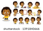 curly afro american boy in... | Shutterstock .eps vector #1391840666