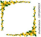 vector background with lemons...   Shutterstock .eps vector #1391845019