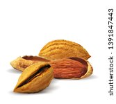 almond low poly. fresh ... | Shutterstock .eps vector #1391847443