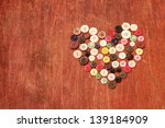 Heart From Vintage Old Buttons