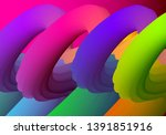 abstract gradients waves... | Shutterstock .eps vector #1391851916