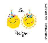 magic unicorn little cute... | Shutterstock .eps vector #1391856896
