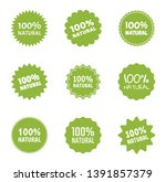 natural food logo icon set ... | Shutterstock .eps vector #1391857379