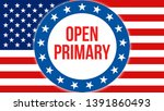 open primary election on a usa...   Shutterstock . vector #1391860493