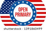 open primary election on a usa...   Shutterstock . vector #1391860499