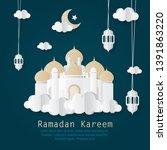 vector illustration of ramadan... | Shutterstock .eps vector #1391863220