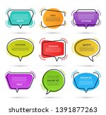 quote speech bubble  text box ... | Shutterstock .eps vector #1391877263
