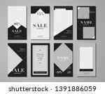 set of minimalistic stories for ... | Shutterstock .eps vector #1391886059