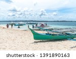 apr 27  2019 boat waiting for... | Shutterstock . vector #1391890163