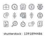 money and business line icons....
