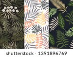 set of three tropical... | Shutterstock .eps vector #1391896769