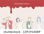 colored and isolated fear... | Shutterstock .eps vector #1391910089