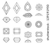 raster  set of diamond design... | Shutterstock . vector #139191950
