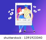 social media photo rating and... | Shutterstock .eps vector #1391923340