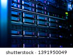 Close Up Server Rack Cluster I...