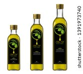 bottles of extra virgin olive...   Shutterstock . vector #1391973740