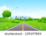 landscape   green hills with... | Shutterstock . vector #139197854