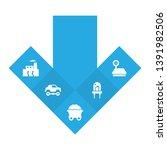 set of 5 technology icons set.... | Shutterstock . vector #1391982506