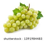 grape isolated. grapes on white.... | Shutterstock . vector #1391984483