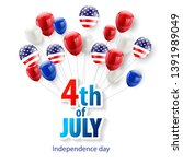 happy 4th of july holiday... | Shutterstock .eps vector #1391989049