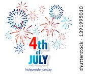 happy 4th of july holiday... | Shutterstock .eps vector #1391995010