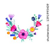 hand drawn watercolor fantasy... | Shutterstock . vector #1391995409