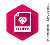 white ruby file document icon.... | Shutterstock .eps vector #1392004880