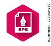 white eps file document icon.... | Shutterstock .eps vector #1392004910