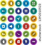 white solid icon set  scoop... | Shutterstock .eps vector #1392010523