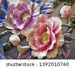 3d illustration of beautiful... | Shutterstock . vector #1392010760