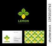 lemon logo. fresh market or... | Shutterstock .eps vector #1392010763