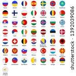 european countries icon set ... | Shutterstock .eps vector #1392039086