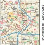 atlanta  georgia downtown map   Shutterstock .eps vector #139204259