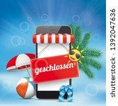 german text geschlossen ... | Shutterstock .eps vector #1392047636