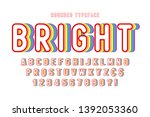 original display rainbow font... | Shutterstock .eps vector #1392053360