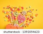 top view of delicious... | Shutterstock . vector #1392054623