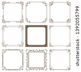 set of decorative frame in... | Shutterstock .eps vector #1392055799