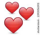 Hearts Emoji Kawaii. Vector...