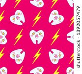kawaii vector seamless pattern. ... | Shutterstock .eps vector #1392057479