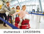 happy family and children on...   Shutterstock . vector #1392058496