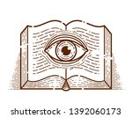 secret knowledge vintage open...   Shutterstock .eps vector #1392060173